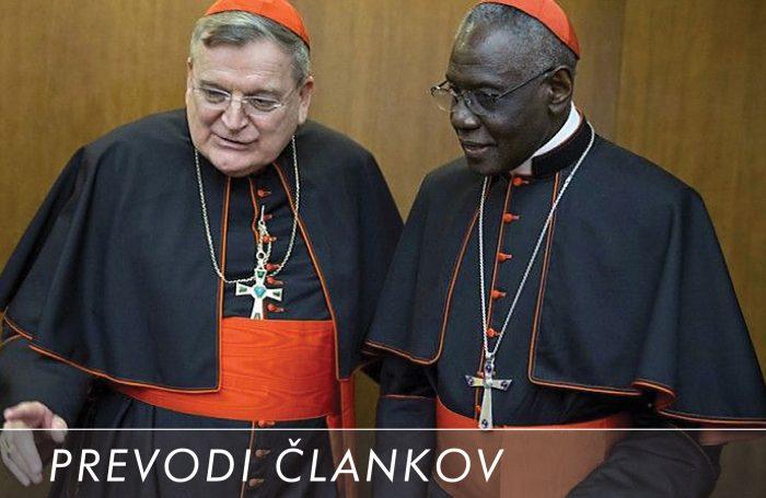 Kardinal Burke in kardinal Sarah