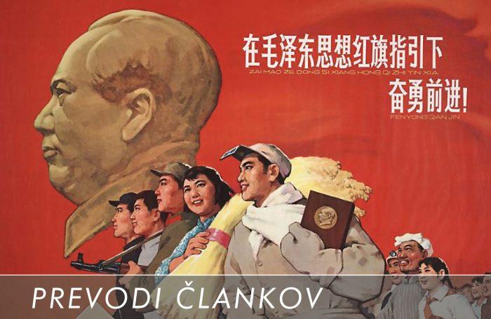 Kitajski ljudje pogumno sledijo Maovi misli