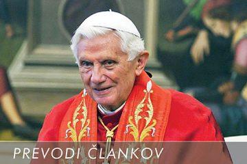 BENEDIKT XVI. O DUHOVNI MOČI ANTIKRISTA